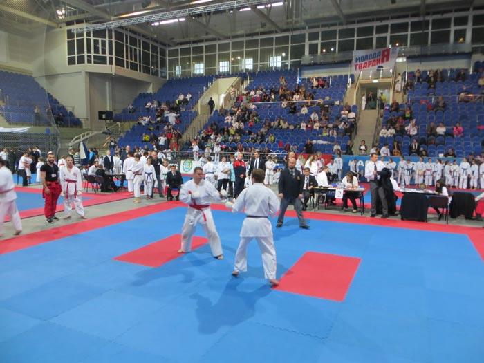 фотография боя Красина на турнире JKS каратэ