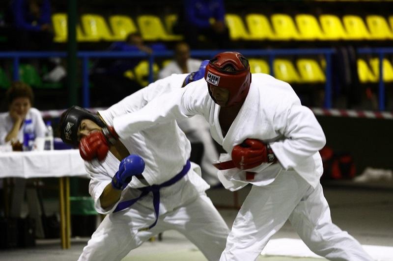 фотография: два рукопашника размениваются ударами руками
